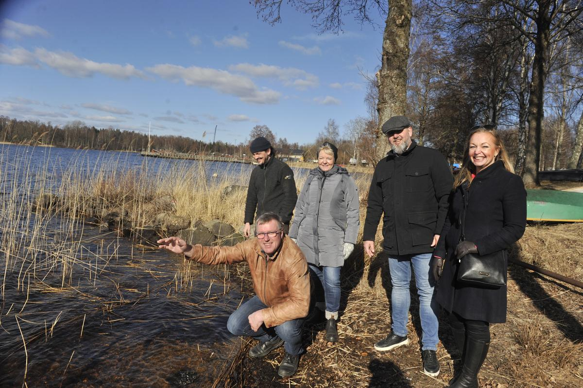 Kommunalråd, kommundirektör från Ljungby och Juha Rankinen